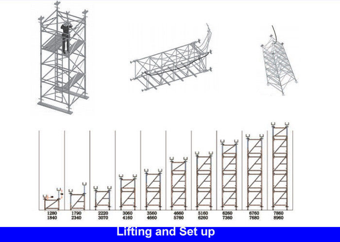 Sturdy Galvanised Steel Frame Type Scaffolding For Highway Bridge Project